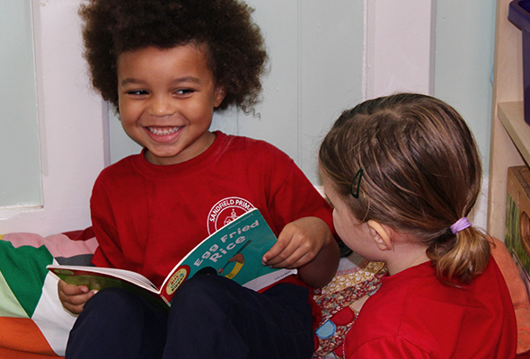 Early years reading at Sandfield