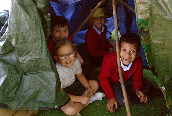 Forest Schools Camp Building at Sandfield